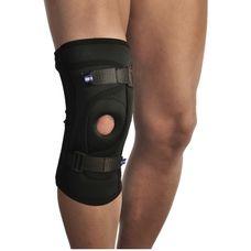 Бандаж Алком 4038 для фіксації колінної чашечки, неопреновий р.4, чорний
