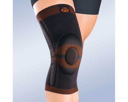 Ортез на колінний суглоб з гнучкими шарнірами Orliman Rodisil 9104 р.4 чорний