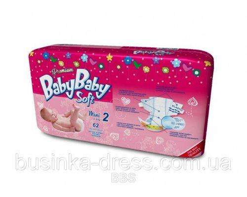 Підгузники BabyBaby Soft Premium Mini (3-6кг) р.2 №62