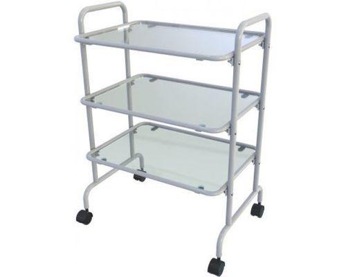 Медичний стіл на колесах з металевим каркасом, з 3-ма полицями (Спс-01.3)