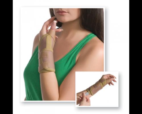 Бандаж на промінево-зап`ястковий суглоб з фіксацією великого пальця MedTextile 8552 р.S/M бежевий