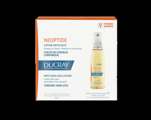Лосьйон проти випадіння волосся для жінок, при хронічному випадінні волосся Ducray Neoptide Lotion 3x30 мл