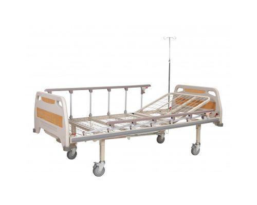 Ліжко медичне реанімаційне OSD-93С двосекційне з механічним приводом на колесах