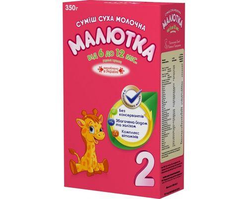 Молочна суха суміш Малютка-2 Подальше годування 6-12 місяців 350 г