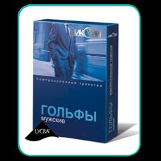 Гольфи компресійні чоловічі Алком 5091 відкритий мисок, 1 компресія р.2, чорні