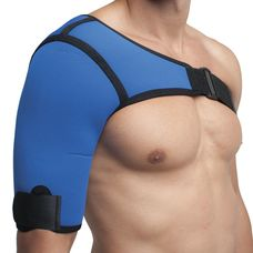 Бандаж Алком 4027 на плечовий суглоб неопреновий р.4 правий, синій