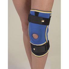 Бандаж Алком 4022 на колінний суглоб з ребрами жорсткості та 2 шарнірами неопреновий р.6, синьо-чорний