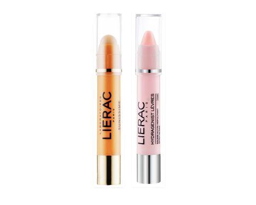 Набір Lierac (Захисний засіб для контуру очей Sunissime SPF 50 3 г + Бальзам для губ Hydragenist Levres рожевий 3 г