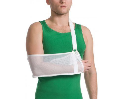 Бандаж для руки підтримуючий з додатковою фіксацією MedTextile 9905 р.S білий