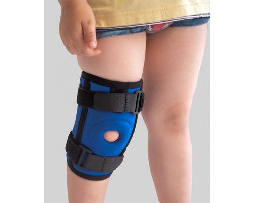 Наколінник дитячий з 2 ребрами жорсткості Алком 4035k р.3 чорно-синій