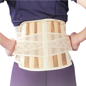 Бандаж для спини середньої фіксації з 6 ребрами жорсткості Ortop EB-510 р.S бежевий