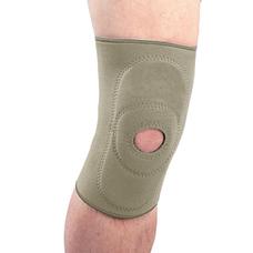 Бандаж Ortop NS-703 на колінний суглоб неопреновий з пателярним кільцем р.ХL, бежевий