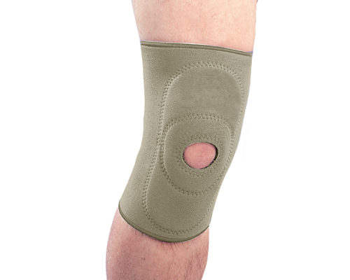 Бандаж на колінний суглоб неопреновий з пателярним кільцем Ortop NS-703 р.ХL бежевий