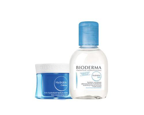Набір Bioderma Hydrabio крем 50 мл + Міцелярний лосьйон Hydrabio H2O 100 мл