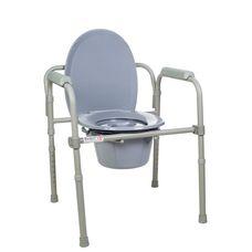 Стілець-туалет Dr.Life 12627 сталевий складаний