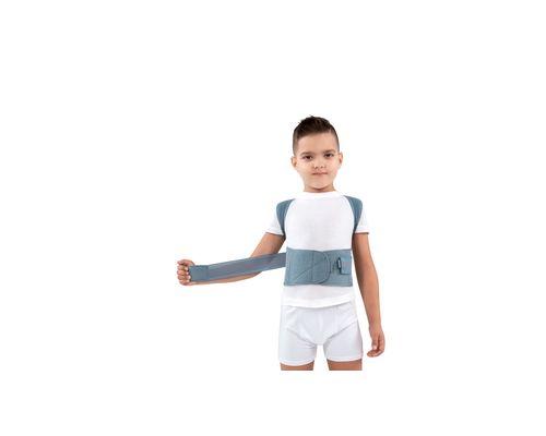 Корсет для корекції осанки жорсткий дитячий Алком 1030 р.1 сірий