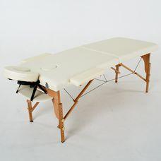 Масажний стіл RelaxLine Lagune, дерев`яна основа, світло-бежевий