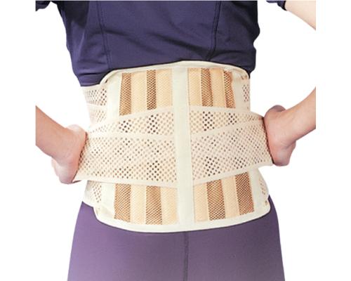 Бандаж для спини середньої фіксації з 6 ребрами жорсткості Ortop EB-510 р.M бежевий
