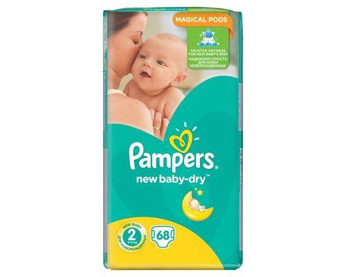 Підгузники Pampers New Baby-Dry Mini (3-6кг) р.2 №68