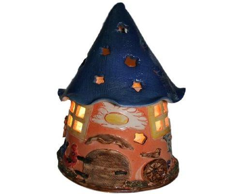 Соляна лампа Дім гнома нічник дитячий, кераміка
