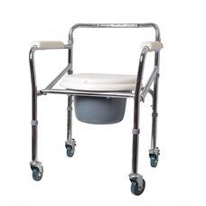 Крісло-стілець Ridni Care KJT705 з санітарним оснащенням регульоване на колесах