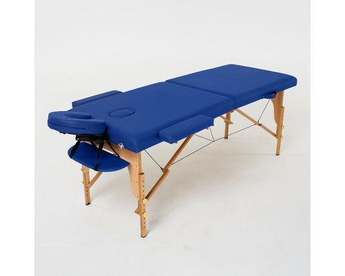 Масажний стіл RelaxLine Lagune, дерев`яна основа, темно-синій