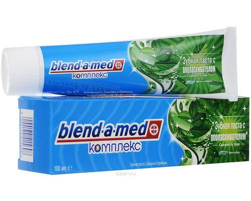 """Зубна паста Blend-A-Med (Бленд-А-Мед) Complete """"Свіжість трав"""" з ополіскувачем 100мл"""