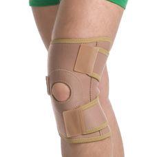 Бандаж MedTextile 6058 люкс на колінний суглоб роз'ємний р.S/M, бежевий